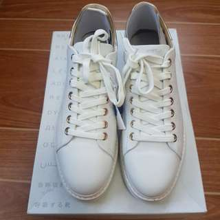 Geox Thymar White Lace Up Sneakers / Shoes