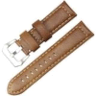 Tali Jam Tangan Kulit Genuine Leather Coklat Muda Watch Strap Band