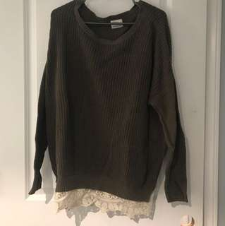 Urban Outfitters Dark Green Sweater