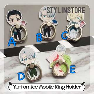 Yuri On Ice Ring Holder Stent Anime Character Cartoon
