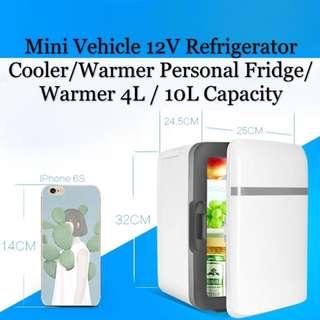 Mini Vehicle 12V Refrigerator Cooler/Warmer Personal Fridge 4L / 10L Capacity