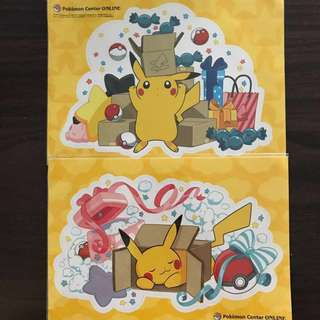 Authentic Pokemon Center Pikachu sticker set