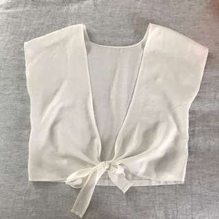 Tie back T-shirt