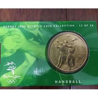 🚚 2000年 雪梨奧運手球紀念幣