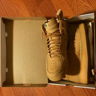 Nike Air Force 1s High Flax- size 11