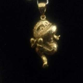 🚚 金色可愛蛇墜子
