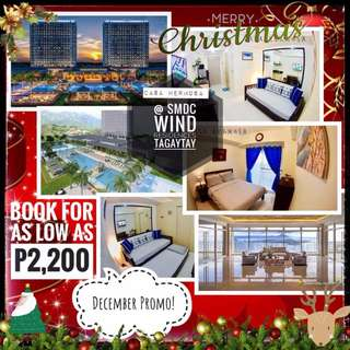 Tagaytay condo for rent per night