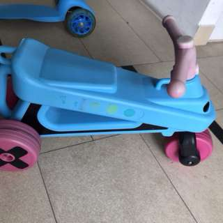 Scooter for balancing