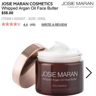 JOSIE MARAN WHIPPED ARGAN OIL FACE BUTTER