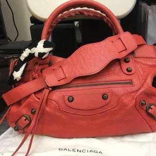 Balenciaga巴黎世家紅色32x18