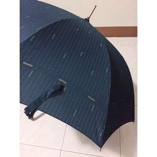 全新 TOYOTA 長柄 雨傘 大傘面 自動傘 復古紳士傘