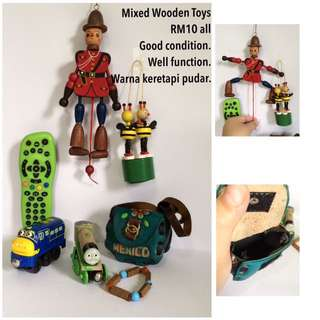 Mixed combo wooden toys