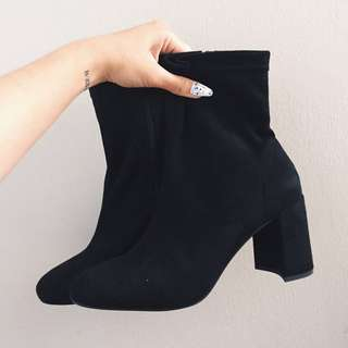 50% OFF BLACK SUEDE BOOTS