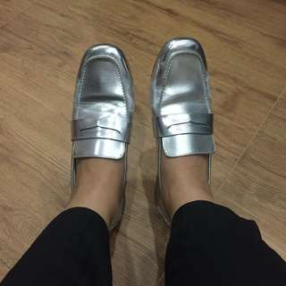 Forever 21 Silver Loafers