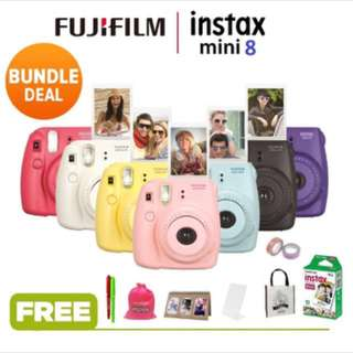 (READYSTOCK) FUJIFILM INSTAX MINI 8 + FREE GIFTS (POLAROID)