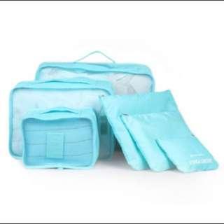 6 in 1 Travel Luggage Bag Oragnizer