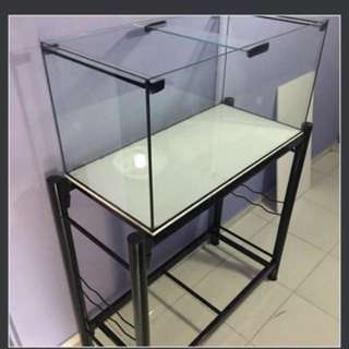 3ft or 4ft by 1.5ft by 1.5ft aquarium glass tank and stand