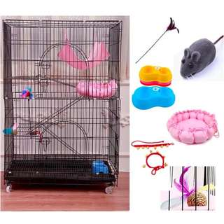 Improved Side Door Design More Free Gift - 4 Tier Cat Cage With Side Door Foldable Collapsable