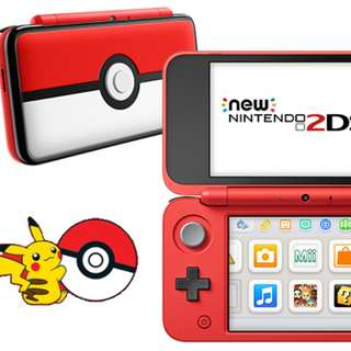 Modded New 2DS XL Nintendo (Pokeball edition)