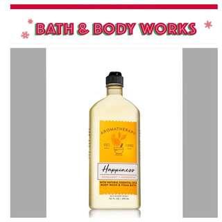 Bath & Body Aromatherapy | Happiness | Bergamot + Mandarin | Body Wash & Foam Bath
