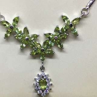 Up for sale is a natural Peridot 925 sterling silver