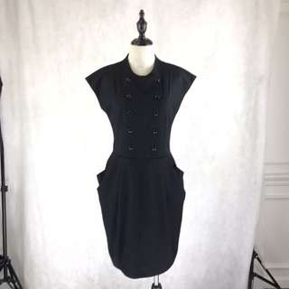 Cour Carré Black Dress *COMPANY SAMPLE