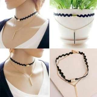 Double Lace Choker Necklace