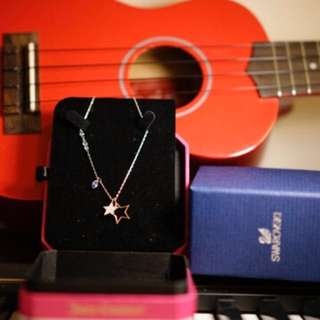 Authentic Swarovski silver star pendant necklace
