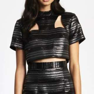 BRAND NEW Alice McCall black crop top size 10