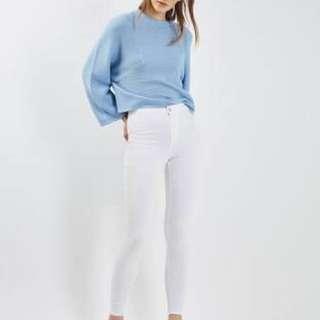 Topshop Moto White Wash Joni Jeans BNWOT Size 25