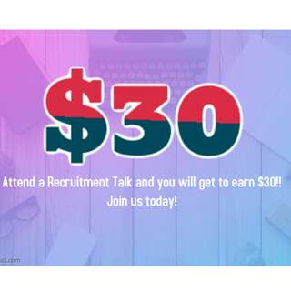Earn $30 for attending Recruitment Talk and Discussion!
