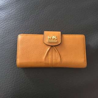 Authentic Coach Madison Leather Skinny Wallet