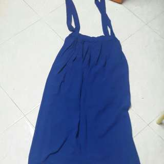 Blue pinafore maxi