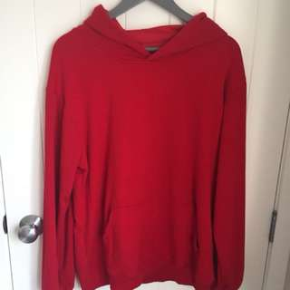 RED HOODIE OVERSIZED