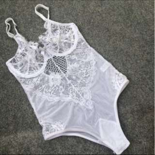 Lace underwire bodysuit