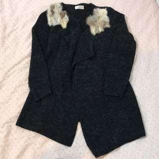 🚚 黑色針織外套