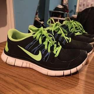Nike Free Runs- Lime Green