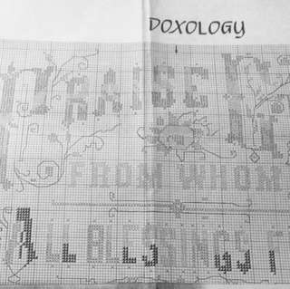00017 Doxology Cross-Stitch Pattern