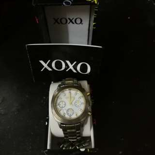 Authentic Xoxo Gold Silver Tone Watch