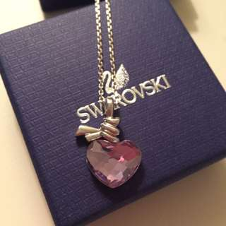 Authentic Swarovski purple crystal heart necklace