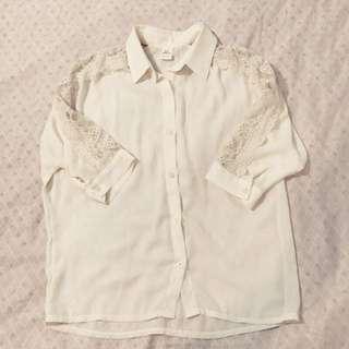 🚚 米白襯衫/韓國製