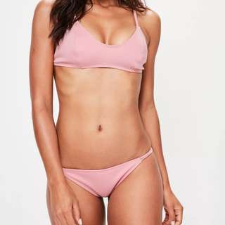 Missguided Baby Pink Bikini Set