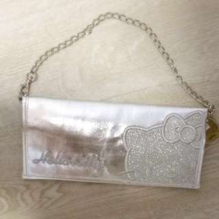 Hello Kitty Silver Clutch.