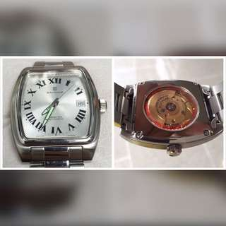 SANDOZ Automatic watch  Size 35mm with crown 38mm  With original leather box