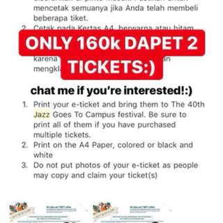 Tiket JAZZ Goes to Campus Festival Ticket