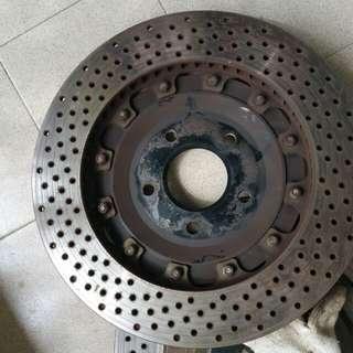 Evo x 355mm crossdrill brake disc & bells