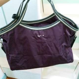Agnes b大袋  兩用袋  日本買回來,少用9成以上新 冇袋/單