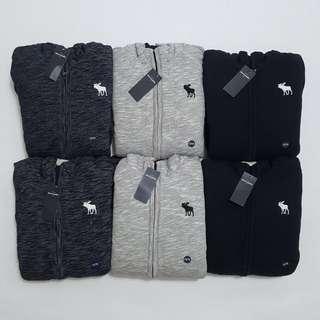 A&F fur hoodie