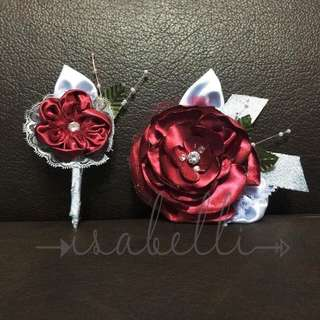 10 corsages & 10 boutonnières (made to order)