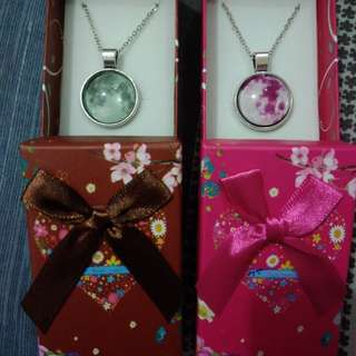Moon Necklace with box 75 each min of 10 pcs